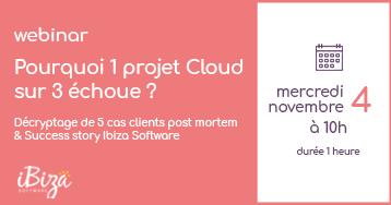 Webinar Innovation Cloud & Infogérance : Pourquoi 1 projet Cloud sur 3 échoue
